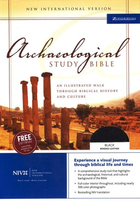 NIV Archaeological Study Bible, Bonded Leather Black, Indexed  - Slightly Imperfect  -
