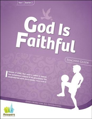 Answers Bible Curriculum: God Is Faithful Grades 3 & 4 Teacher Guide with DVD-ROM Year 1 Quarter 3  -