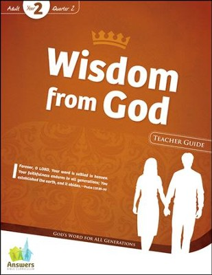 Answers Bible Curriculum Year 2 Quarter 2 Adult Teacher Guide with DVD-ROM                                                         -