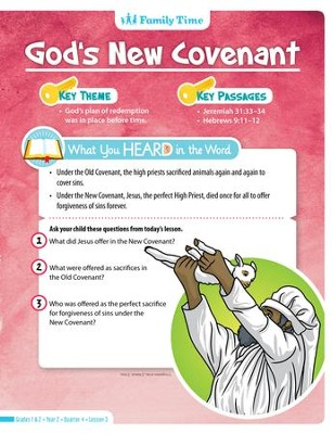 Answers Bible Curriculum Year 2 Quarter 4 Grades 1-2 Student Take Home Sheets   -