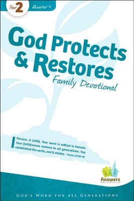 Answers Bible Curriculum Year 2 Quarter 4 Family Devotional Book                                                    -