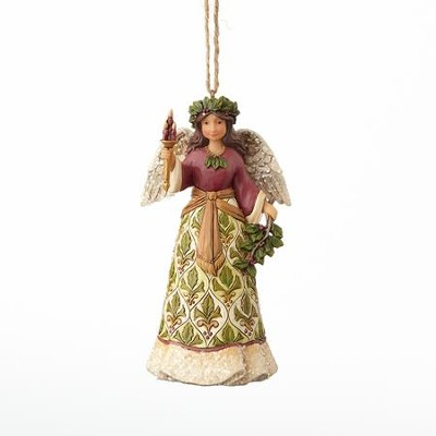 Heartwood Creek, Victorian Holly Angel Ornament  -     By: Jim Shore