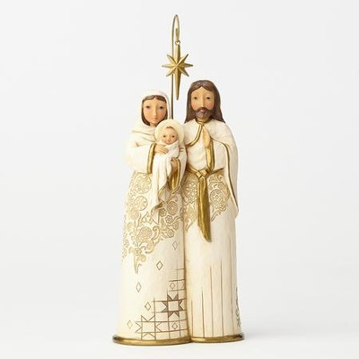 Heartwood Creek Golden Holy Family Figurine  -     By: Jim Shore