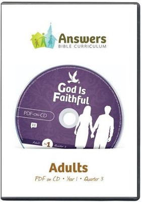 Answers Bible Curriculum Year 1 Quarter 3 Adult Teacher Kit on CD-Rom  -