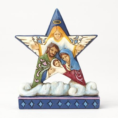 Heartwood Creek, Star with Holy Family Figurine  -     By: Jim Shore