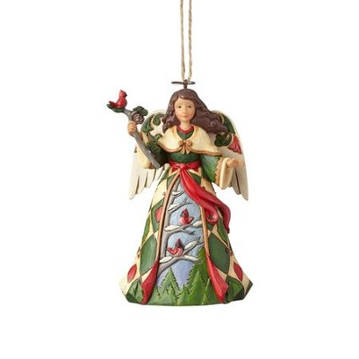 Heartwood Creek, Angel with Cardinals Ornament  -     By: Jim Shore
