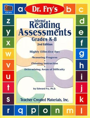 Dr. Fry's Informal Reading Assessments   -     By: Edward Fry