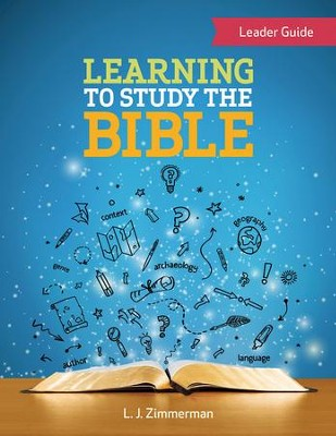Learning to Study the Bible,  Leader Guide for Tweens, eBook   -