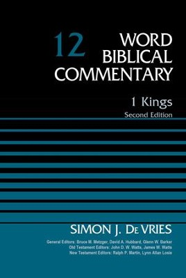 1 Kings, Volume 12: Second Edition / Special edition - eBook  -     By: Simon J. DeVries