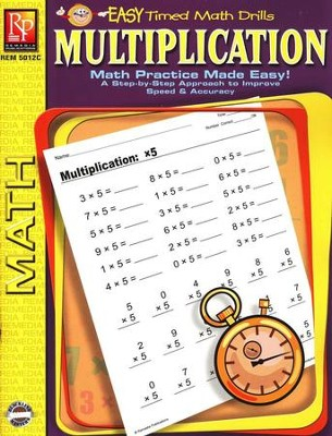 Easy Timed Math Drills: Multiplication   -
