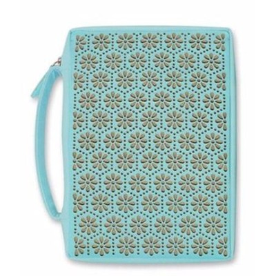Laser Flower, Bible Cover, Large  -