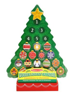 Wooden Advent Calendar Christmas Tree   -