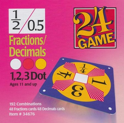 24 Game: Fractions & Decimals (96 Cards)  -