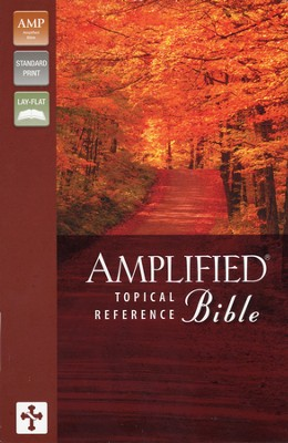 Amplified Topical Reference Bible Bonded Black   -