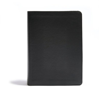CSB He Reads Truth Bible, Black Leathertouch Imitation Leather, Indexed  -