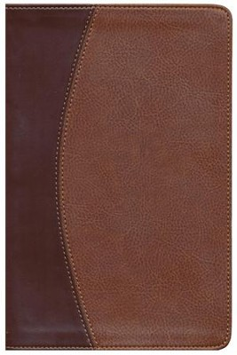 NASB Thinline Bible, Imitation leather, mahogany/chocolate duo-tone  -