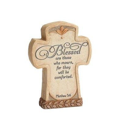 Legacy of Love, Blessed Are Those How Mourn, Cross Plaque  -     By: Kim Lawrence