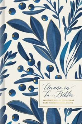 Un a&#241o en la Biblia, floral, One Year in the Bible, Floral Hardcover  -