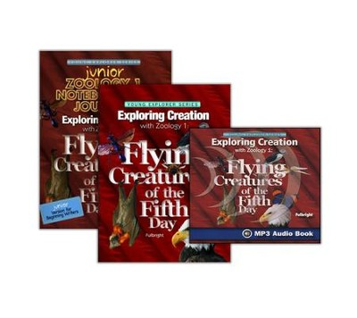 Exploring Creation with Zoology 1: Flying Creatures of the  Fifth Day Super Set (with Junior Notebooking Journal)  -