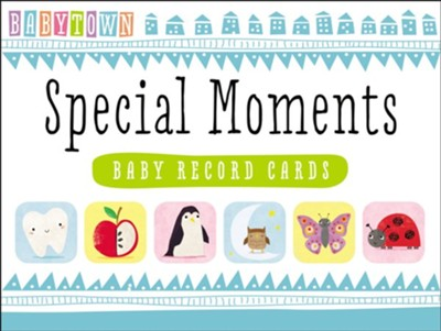 Babytown Special Moments Baby Record Cards  -