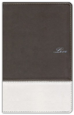 NIV Couples' Devotional Bible, Soft Leather-Look--Chocolate/Silver 1984 - Imperfectly Imprinted Bibles  -