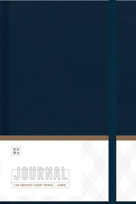 Ezra Journal, Navy Cloth  -
