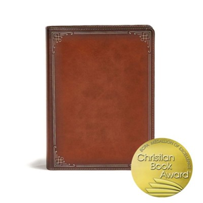 CSB Ancient Faith Study Bible--soft leather-look, tan (indexed)  -