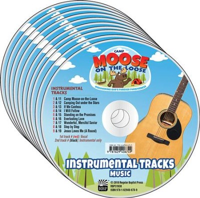 Camp Moose on the Loose: Music CDs, Instrumental with Vocals (10-pack)  -