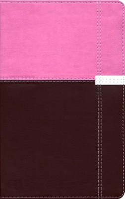 NIV Life Application Study Bible, Personal Size, Italian Duo-Tone, Orchid/Chocolate 1984 - Imperfectly Imprinted Bibles  -
