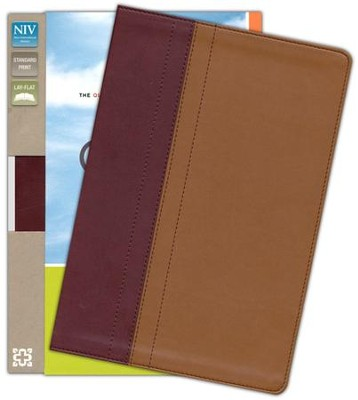 NIV Quest Study Bible: The Question and Answer Bible, Imitation Leather, Burgundy Tan - Slightly Imperfect  -
