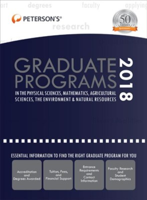 Graduate Programs in the Physical Sciences, Mathematics, Agricultural Sciences, Environment & Natural Resources 2018  -