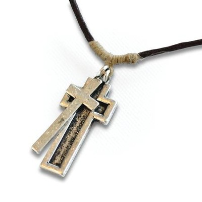 His Armor Cross Necklace  -
