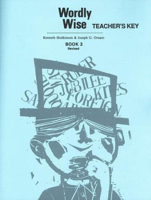 Wordly Wise Book 3, Grade 6-Teacher's Key   -     By: Kenneth Hodkinson