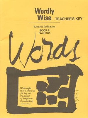 Wordly Wise, Book 9, Grade 12-Teacher's Key   -     By: Kenneth Hodkinson