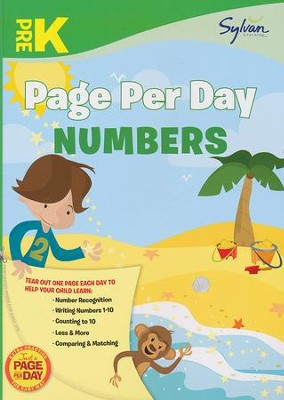 Pre-K Page Per Day: Numbers  -     By: Sylvan Learning