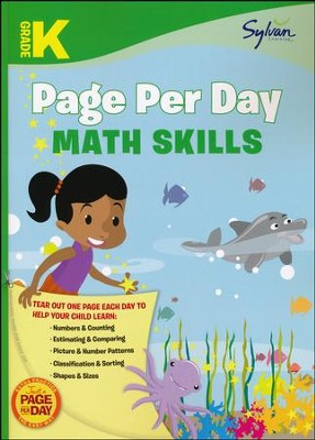 Kindergarten Page Per Day: Math Skills  -     By: Sylvan Learning