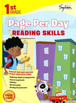 First Grade Page Per Day: Reading Skills  -     By: Sylvan Learning