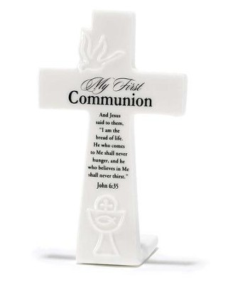 My First Communion Tabletop Cross  -