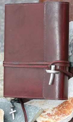 Leather Wrap Bible Cover, Burgundy, Extra Large  -