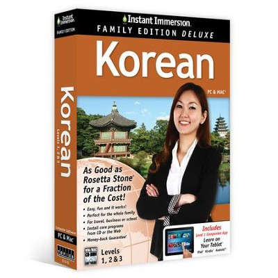 Instant Immersion Family Edition Deluxe Korean Levels 1, 2, & 3 on CD-Rom  -     By: EuroTalk