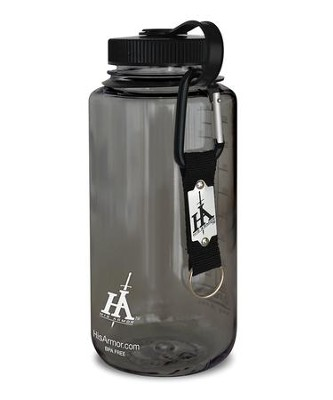 His Armor Sport Bottle, Smoke Color, with His Armor Carabiner Keychain  -