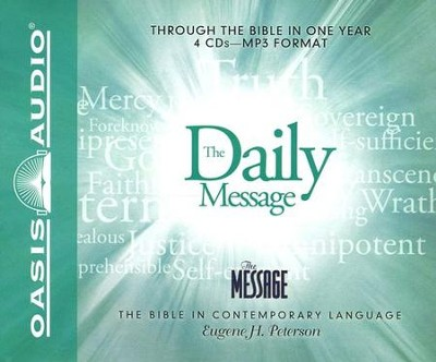 The Daily Message on MP3--4 CDs   -     By: Eugene H. Peterson