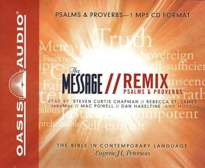 Message Remix Psalms and Proverbs - Unabridged Audiobook on MP3  -     By: Eugene H. Peterson