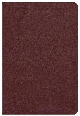 The ESV New Inductive Study Bible, Genuine Leather, Burgundy  -