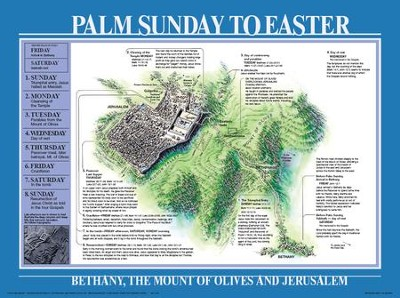 Palm Sunday To Easter, Laminated Wall Chart   -