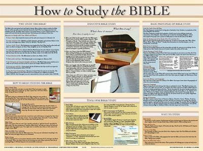 How To Study The Bible, Laminated Wall Chart   -