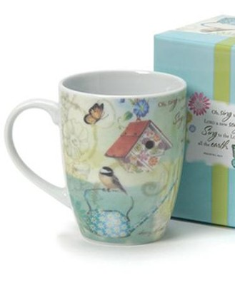 Garden Blooms, Mug With Gift Box  -     By: Sandy Clough