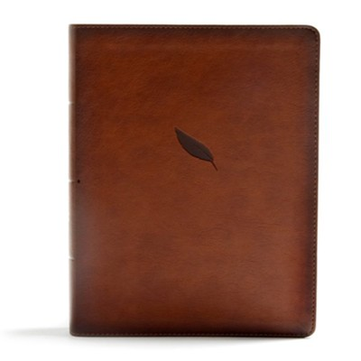 CSB Legacy Notetaking Bible--soft leather-look, tan  -