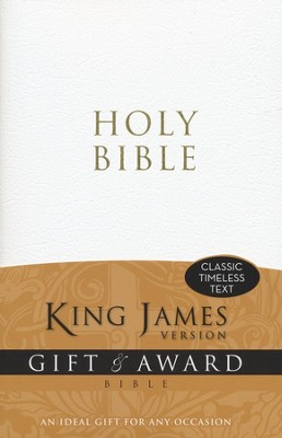 King James Version Gift & Award Bible, White  -