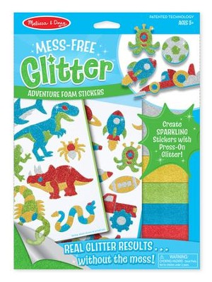 Cool Creatures Foam Glitter Stickers  -